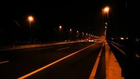 Stadt in der Nachtstraße Stockbild