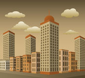 Stadt in der Perspektive Lizenzfreies Stockbild