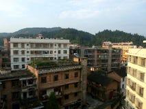 Stadt in der Südchina lizenzfreies stockbild