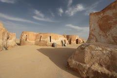 Stadt in der Sahara-Wüste Lizenzfreies Stockfoto