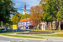 Stadt der Virovitica Straßenansicht Lizenzfreie Stockbilder