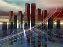 Stadt der Zukunft lizenzfreie abbildung