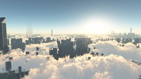 Stadt der Zukunft Stockfotografie
