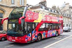 Stadt des Bad-Besichtigungs-Busses Lizenzfreies Stockbild