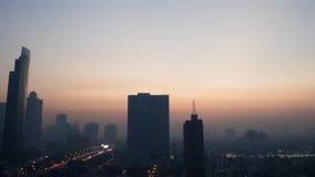 Stadt des frühen Morgens Stockfotos