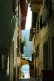 Stadt des Isola Bella, die Borromean-Inseln Italien lizenzfreies stockfoto