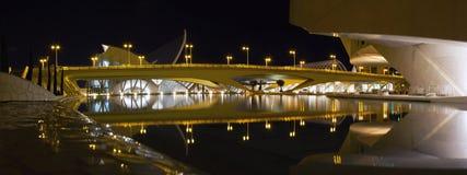 Stadt des Kunstpanoramas in Valencia Lizenzfreie Stockfotografie