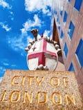 Stadt des London-Emblems Stockfoto