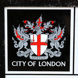 Stadt des London-Emblems Stockfotografie