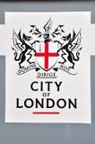 Stadt des London-Zeichens Stockfoto