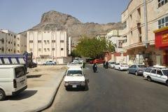 Stadt des Mecca Which-Showautos und -straße Lizenzfreie Stockbilder
