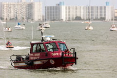 Stadt des Miami-Feuer-Rettungsboots Lizenzfreie Stockfotos