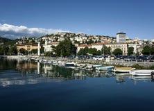 Stadt des Rijeka-Boots-Hafens Stockfotos
