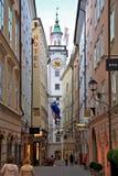 Stadt des Salzburgs, Österreich Stockfotos