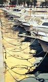 Stadt des Spaltenhafens auf dem adriatischen Meer in Kroatien, Dalmatien Region Stockbild