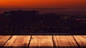 Stadt durch Nachtvideo vektor abbildung