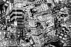 Stadt, eine Illustration einer großen Collage Lizenzfreies Stockfoto