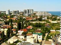 Stadt in einem Meer Stockfoto