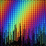 Stadt in einem Regenbogen Stockbild