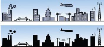 Stadt-Elemente Lizenzfreies Stockfoto