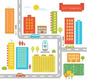 Stadt-Elemente Stockfoto