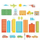 Stadt-Elemente Lizenzfreie Stockfotos