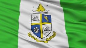 Stadt-Flagge St. Catharines, Kanada, Ontario, Nahaufnahme-Ansicht Lizenzfreie Abbildung