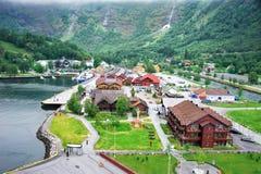 Stadt Flam - Norwegens Stockfotografie