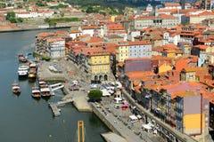 Stadt-Fluss-Ansicht Porto alte, Porto, Portugal Lizenzfreies Stockbild