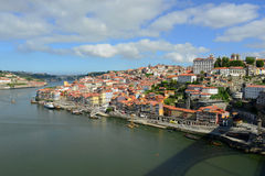 Stadt-Fluss-Ansicht Porto alte, Porto, Portugal Stockfoto