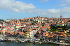 Stadt-Fluss-Ansicht Porto alte, Porto, Portugal Lizenzfreie Stockfotografie