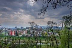 Stadt Frydek Mistek stockbilder