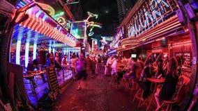 Stadt-Fußgängerverkehrs-Zeitspanne-Bangkok-Leitartikel stock footage