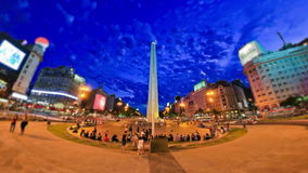 Stadt-Fußgängerverkehrs-Zeitspanne Buenos Aires stock video
