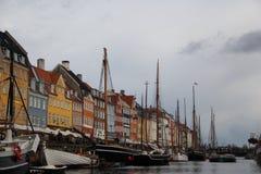 Stadt-Gebäude Kopenhagens Dänemark Stockfotos