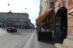 Stadt-Gebäude Kopenhagens Dänemark Stockfotografie