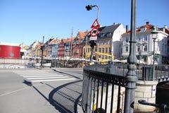 Stadt-Gebäude Kopenhagens Dänemark Stockfoto
