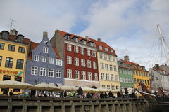 Stadt-Gebäude Kopenhagens Dänemark Lizenzfreie Stockbilder