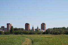 Stadt Glazov lizenzfreie stockbilder