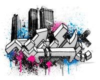 Stadt-Graffitihintergrund Lizenzfreie Stockfotos