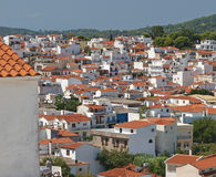 Stadt in Griechenland Stockfoto