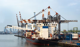 Stadt-Hafen Stockfoto