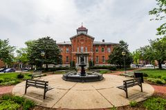 Stadt Hall Court House in im Stadtzentrum gelegenem historischem Federick, Maryland Stockfotos