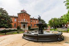 Stadt Hall Court House in im Stadtzentrum gelegenem historischem Federick, Maryland Lizenzfreies Stockfoto