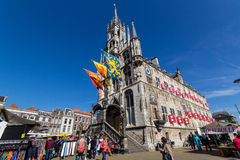 Stadt Hall Gouda in den Niederlanden Stockbilder