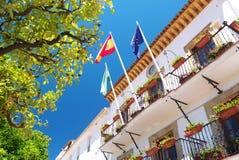 Stadt Hall Marbella Spain Ayuntamiento Des Marbella Stockbild
