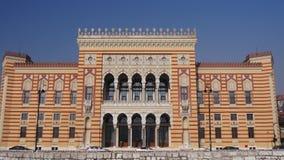 Stadt Hall Sarajevo stock video