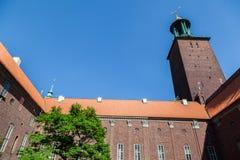 Stadt Hall Stockholm Sweden Lizenzfreies Stockfoto