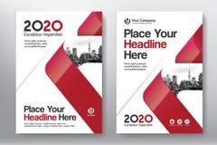 Stadt-Hintergrund-Geschäfts-Bucheinband-Design-Schablone in A4 lizenzfreie abbildung