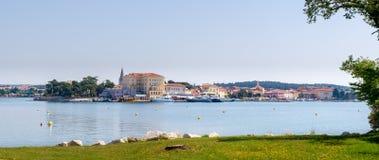 Stadt Histroric Istrian von Porec, Kroatien stockfotografie